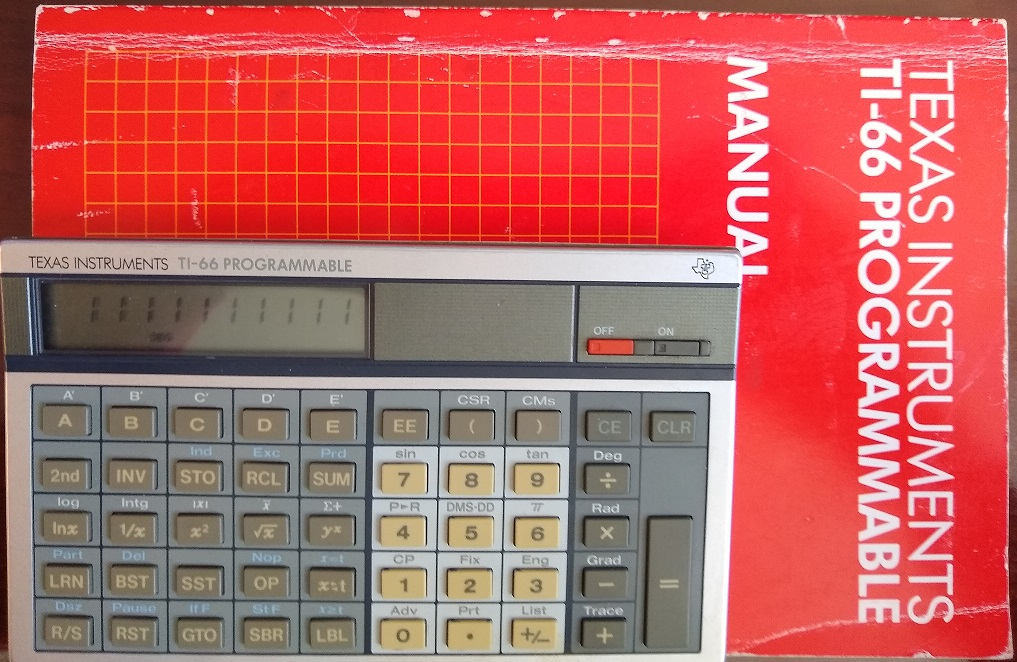 TI-66 pocket computer and manual
